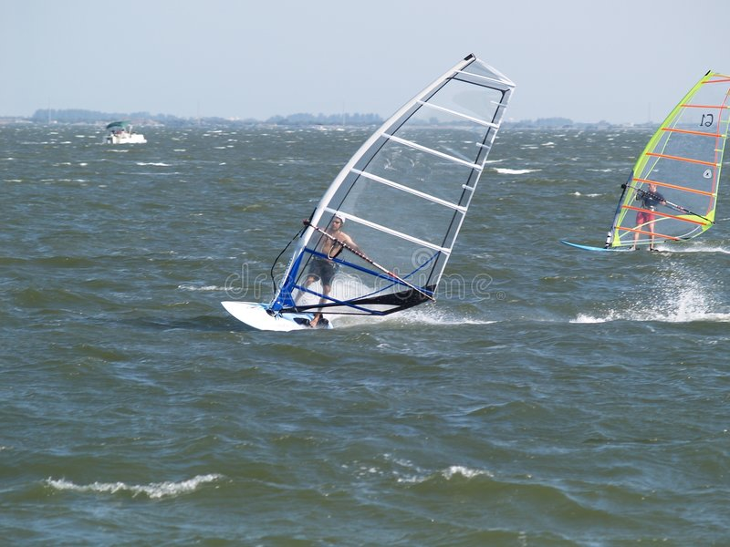 Wind Surfers royalty free stock photo