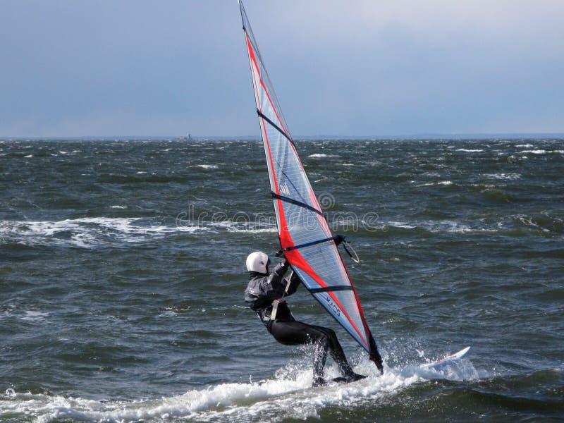 Wind surfing stock photo