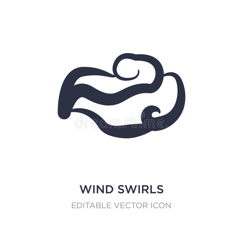wind swirls icon on white background. Simple element illustration from Weather concept royalty free illustration