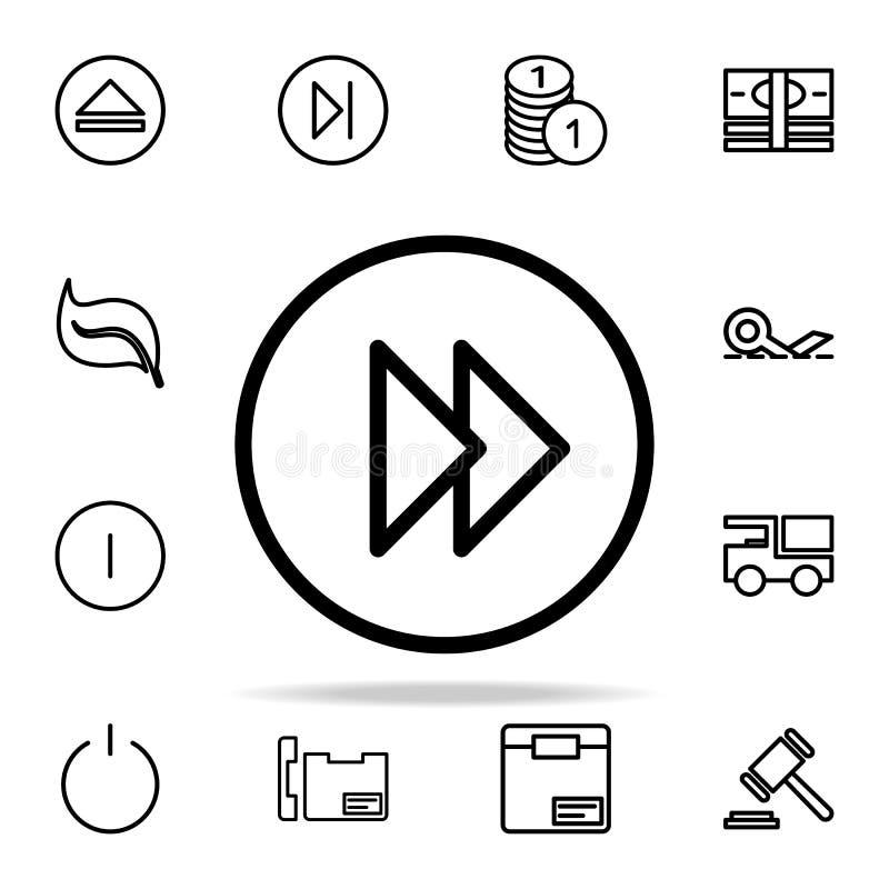wind teken in een cirkelpictogram opnieuw op voor Web wordt geplaatst dat en het mobiele algemene begrip van Webpictogrammen stock illustratie