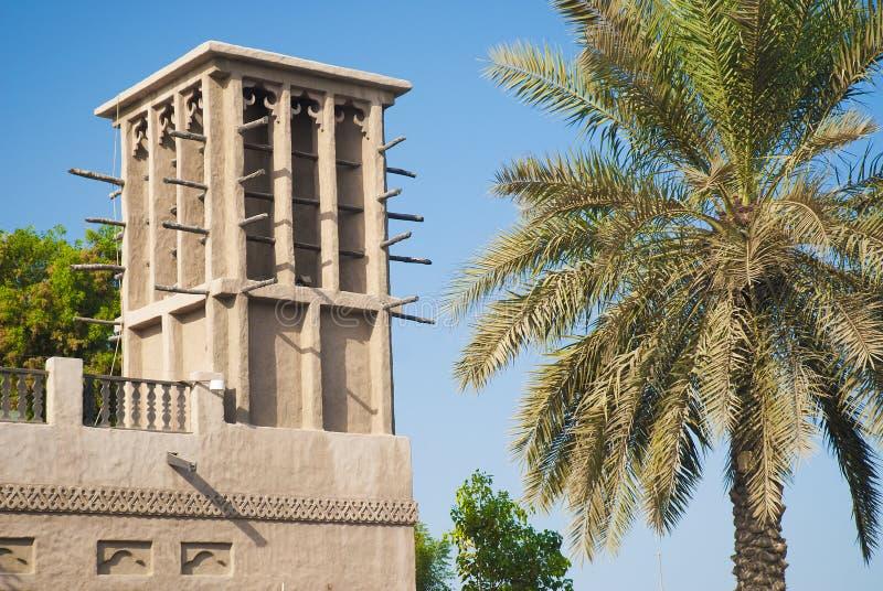 Wind tower in dubai united arab emirates stock image