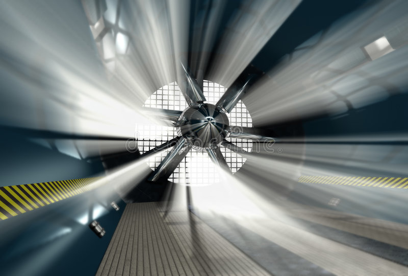 Wind tunnel for car test stock illustration