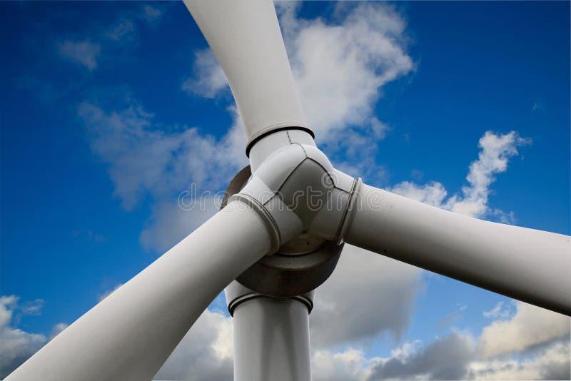 Wind Turbine. Giant Wind Turbine with blue sky background stock photos