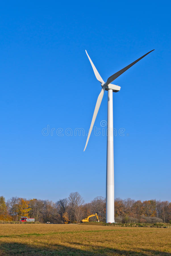 Wind Turbine. Finished Wind Turbine at construction site stock image