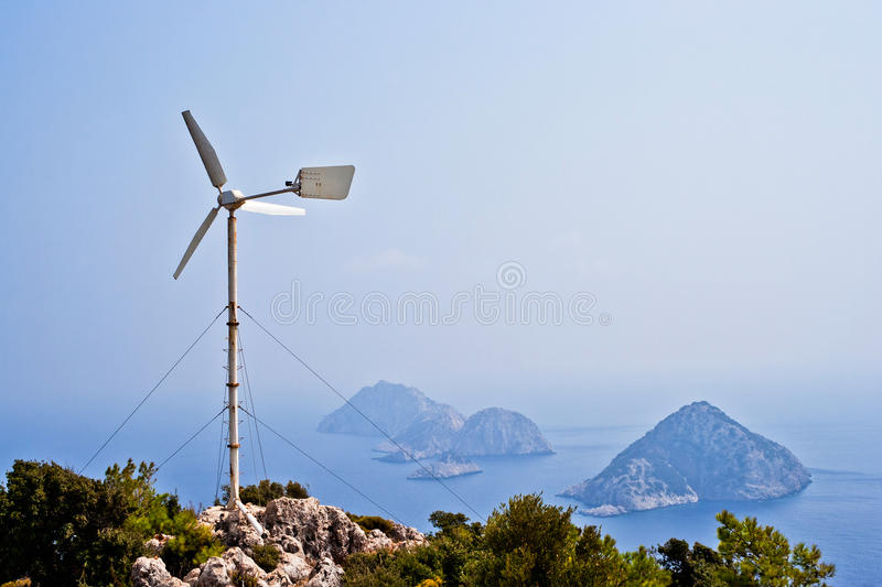 Download Wind turbine stock image. Image of islands, power, color - 24139833
