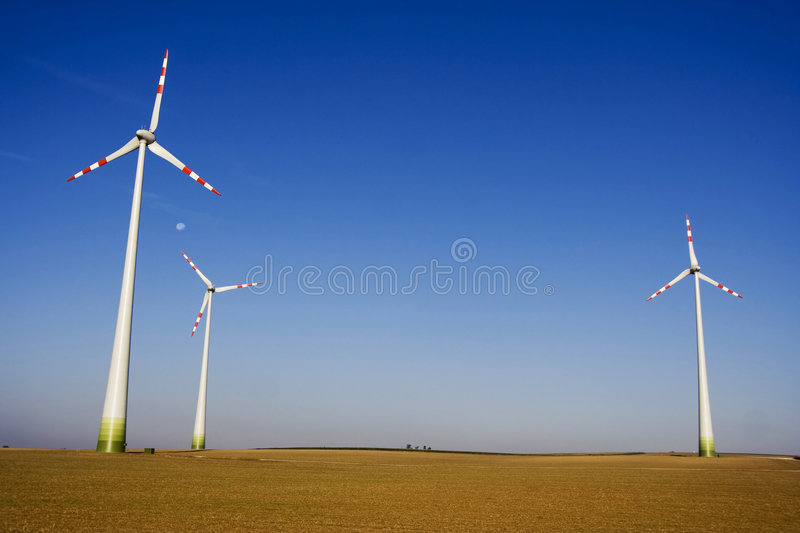 The wind turbine royalty free stock photo