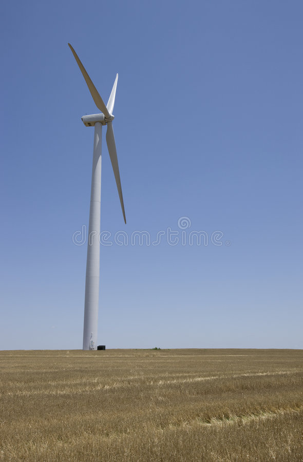 Wind Turbine. In wind farm in central United States stock images