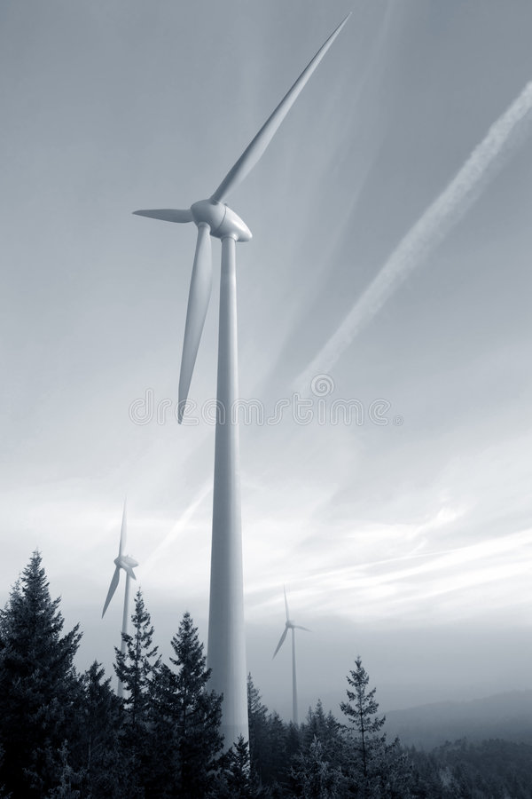 Wind turbine. In the Black Forest, Germany stock photography
