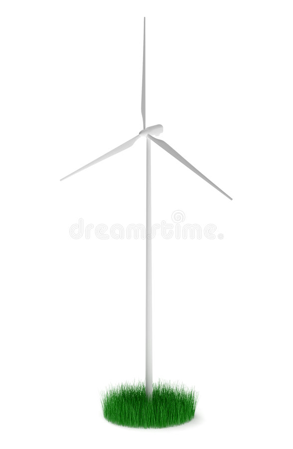 Download Wind turbine stock illustration. Image of grass, ecologically - 8573887
