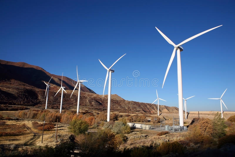 Wind-Turbine stockbilder