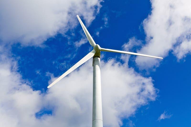 Wind turbine and blue sky