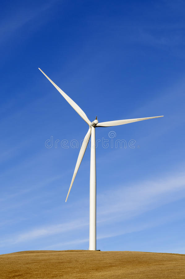 Wind turbine in California royalty free stock images