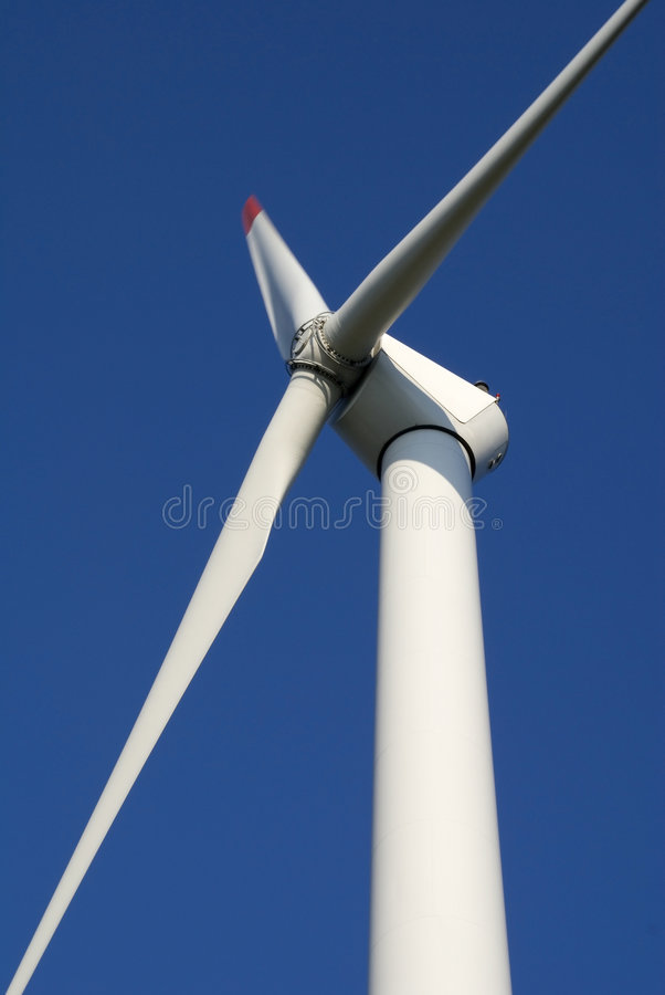 Wind turbine close-up royalty free stock photo
