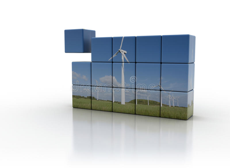 Download Wind turbine concept stock illustration. Image of improvement - 13874741