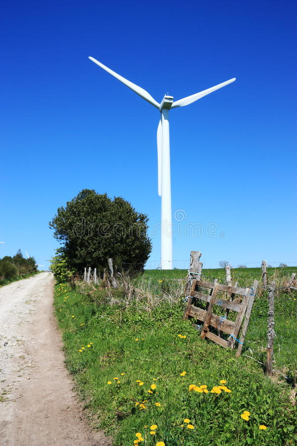 Download Wind Turbine In Country Lane Stock Image - Image of alternative, environmental: 15320895
