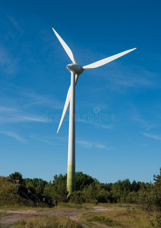 Wind turbine generating electricity royalty free stock photography