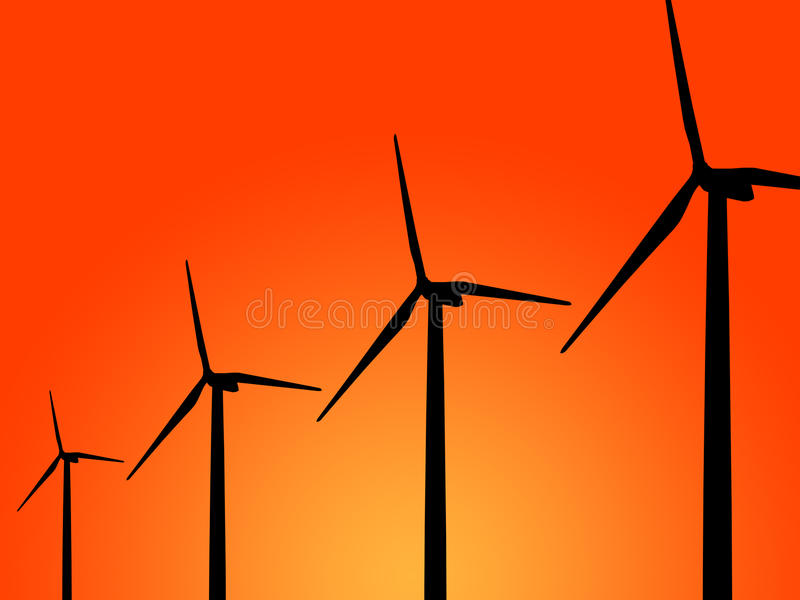 Download Wind turbine generator stock image. Image of renewable - 25940147