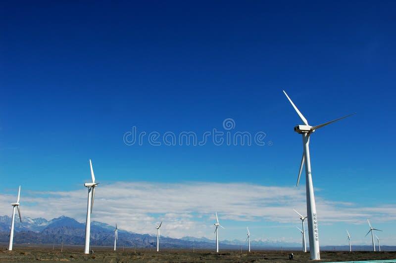 Wind turbine generators stock photography