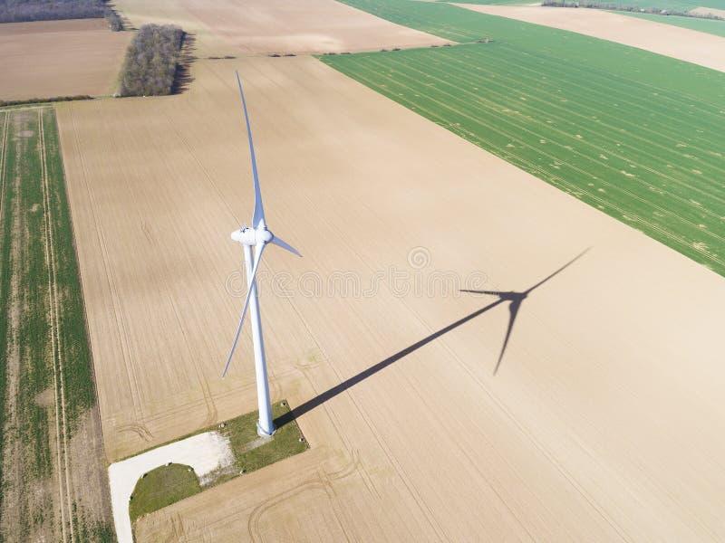 Wind turbine in Gommerville, Eure-et-Loir royalty free stock image