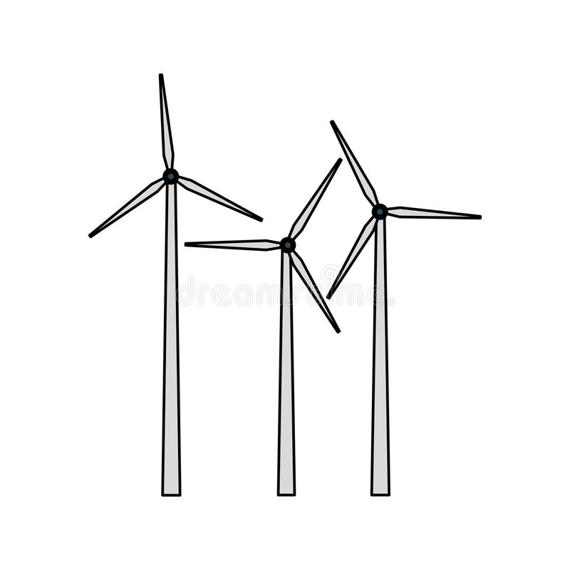 Wind turbine icon image. Illustration design stock illustration