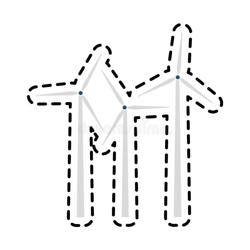 Wind turbine icon image. Illustration design royalty free illustration