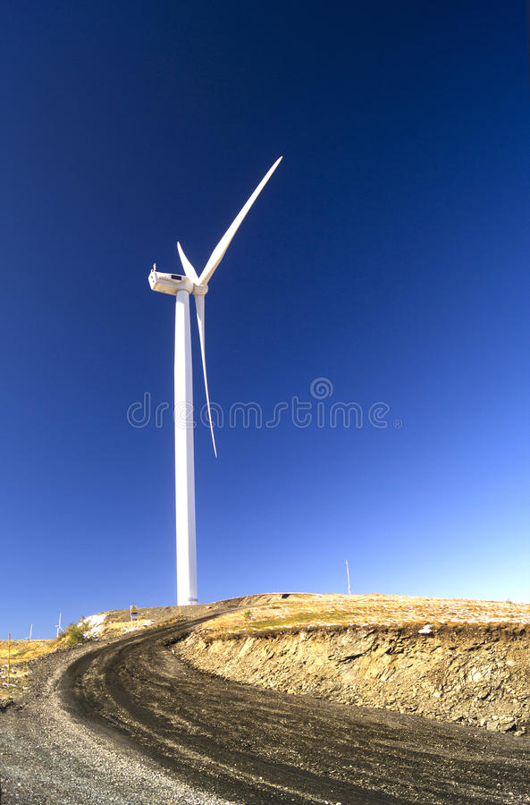 Download Wind Turbine With Landscape And Blue Sky Stock Photo - Image of blue, environment: 36689706