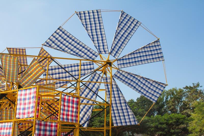 Wind turbine loincloth. stock photo