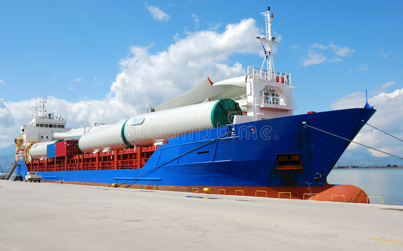 Download Wind turbine in parts stock photo. Image of logistic, windmill - 7169256