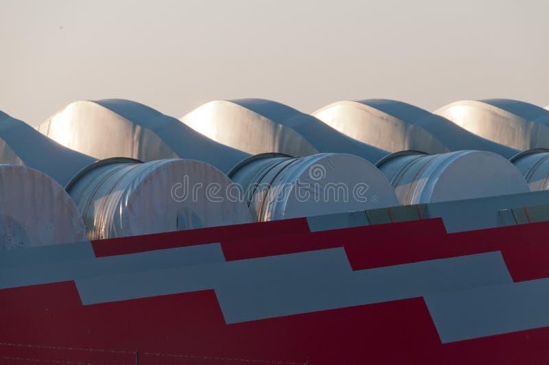 Wind Turbine Parts stock images
