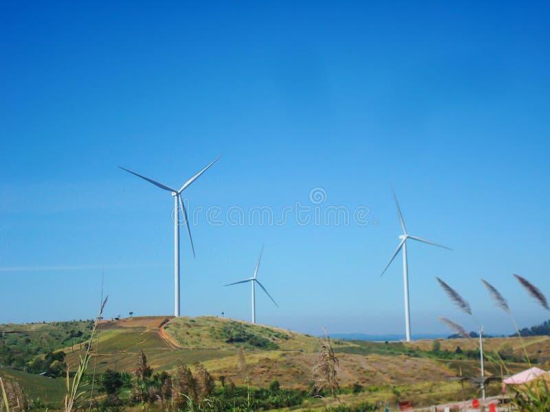 Wind turbine power at KhaoKho in Phetchabun ,Thailand. Wind turbine power Scenic and landscape area agriculture at KhaoKho in Phetchabun ,Thailand stock images
