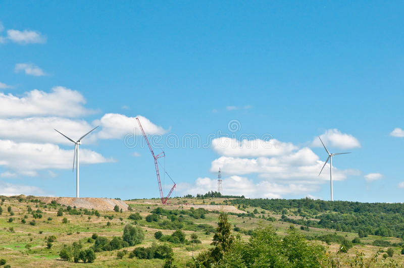 Wind turbine renewable energy source. royalty free stock images