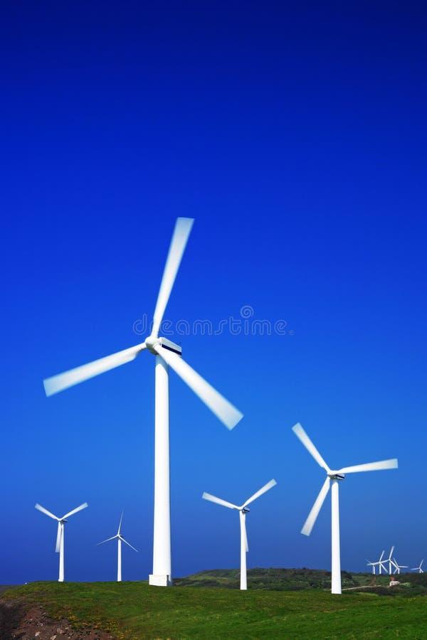 Wind turbine series. Coastal wind farm from a series in my portfolio royalty free stock image