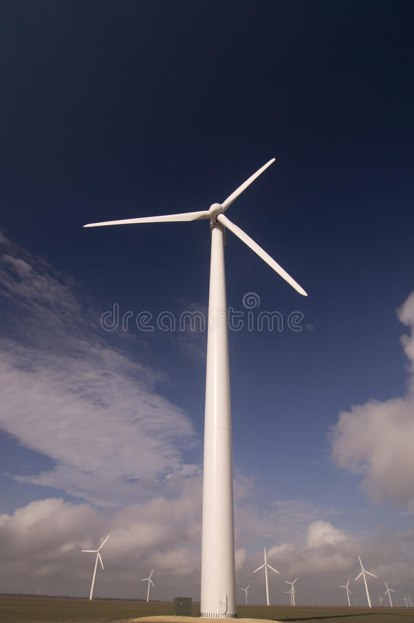 Wind Turbine Towers Royalty Free Stock Photography