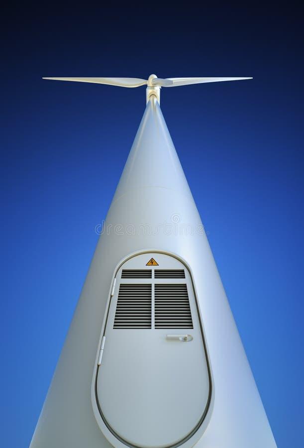 Wind-Turbine von unterhalb lizenzfreie abbildung