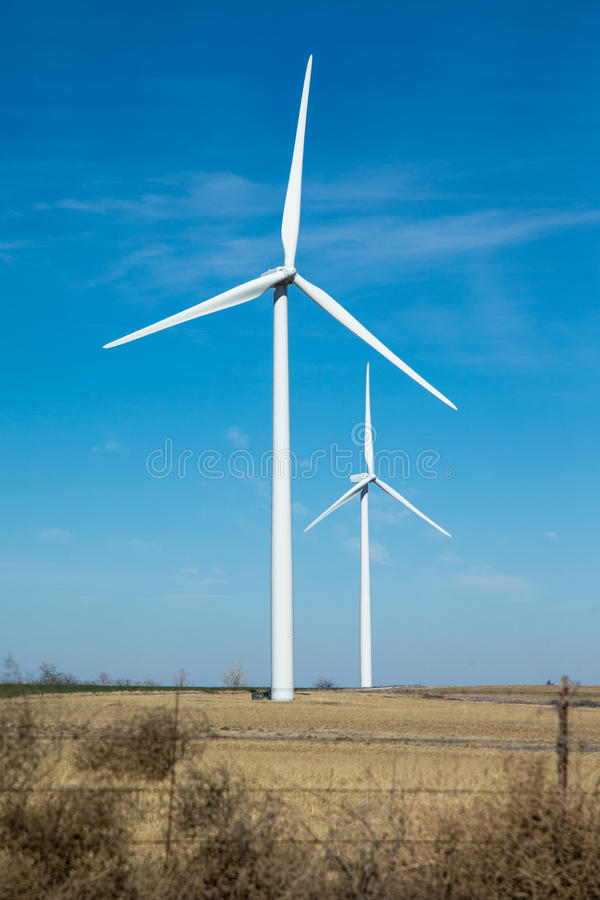 Wind turbine in western oklahoma. Turbine wind energy in Oklahoma royalty free stock photos