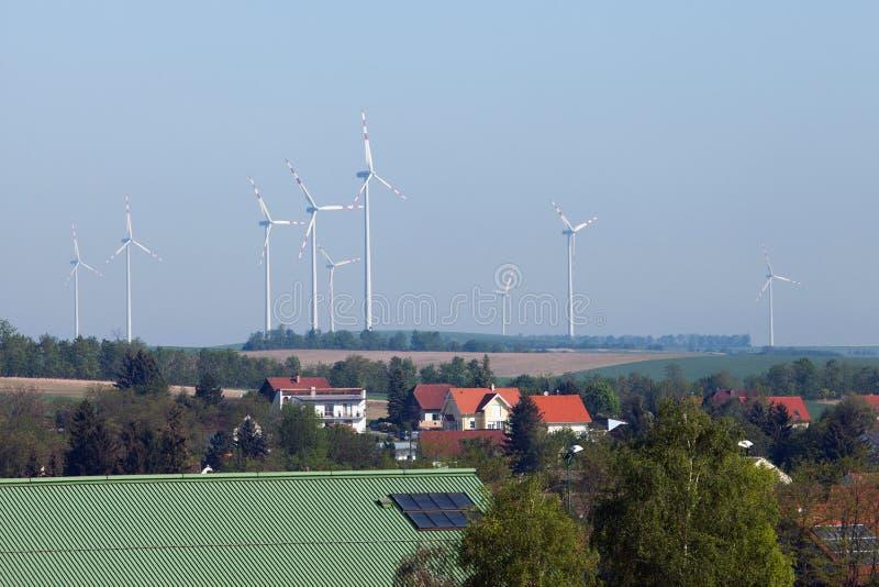 Wind-Turbinen Österreich stockfotografie