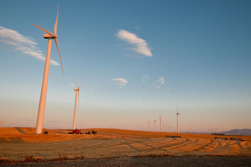 Wind-Turbinen stockfoto