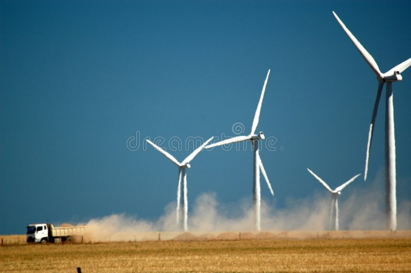 Wind-Turbinen stockbild