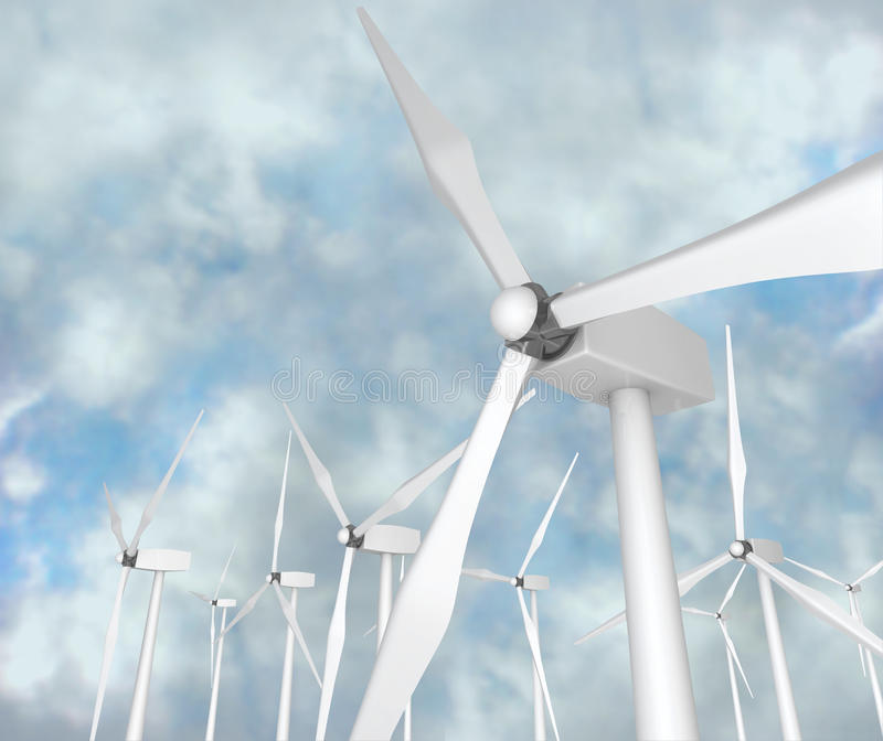 Wind-Turbinen - alternative Energie stock abbildung