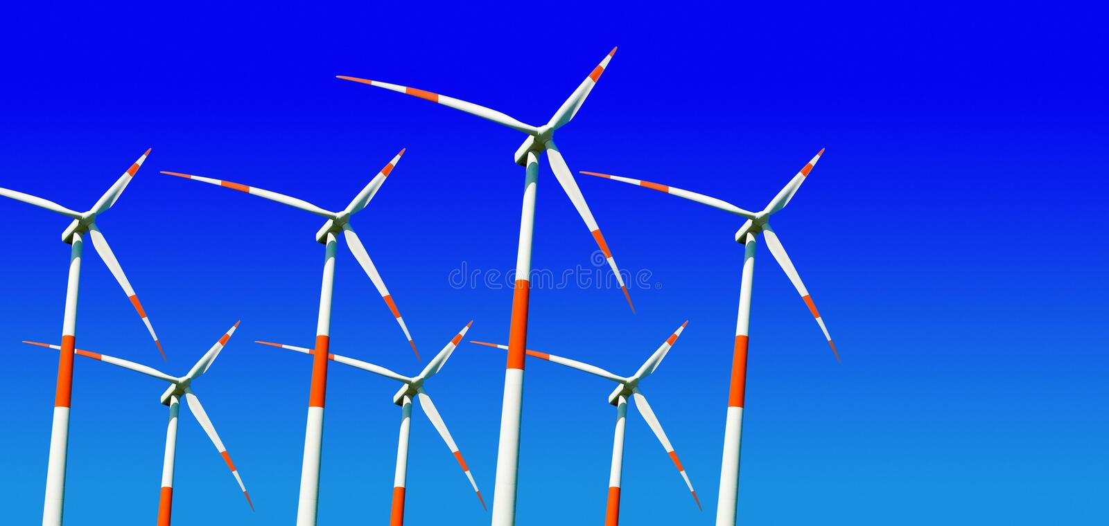 Download Wind turbines stock photo. Image of blue, generate, carbon - 14363010