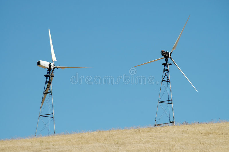 Download Wind turbines stock photo. Image of ecology, hilltop, grass - 192666