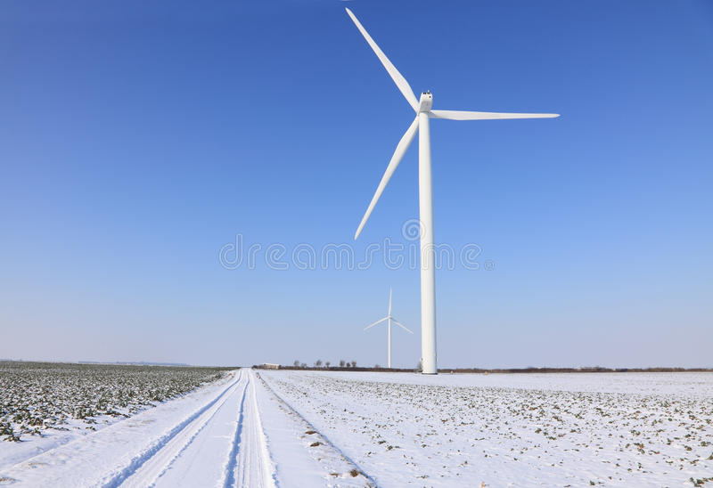 Download Wind turbines stock image. Image of rural, blue, road - 23353337