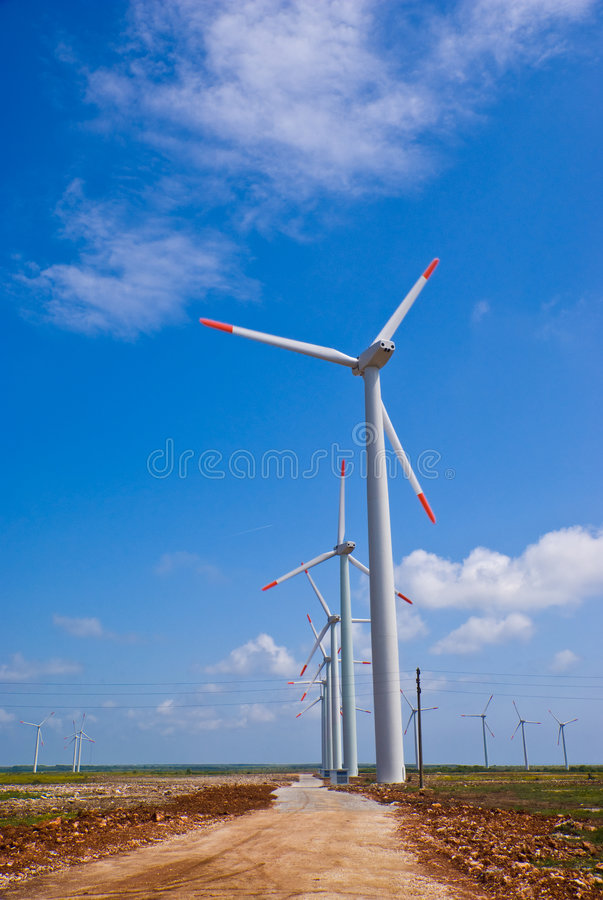 Download Wind turbines stock photo. Image of efficiency, dioxide - 5099324