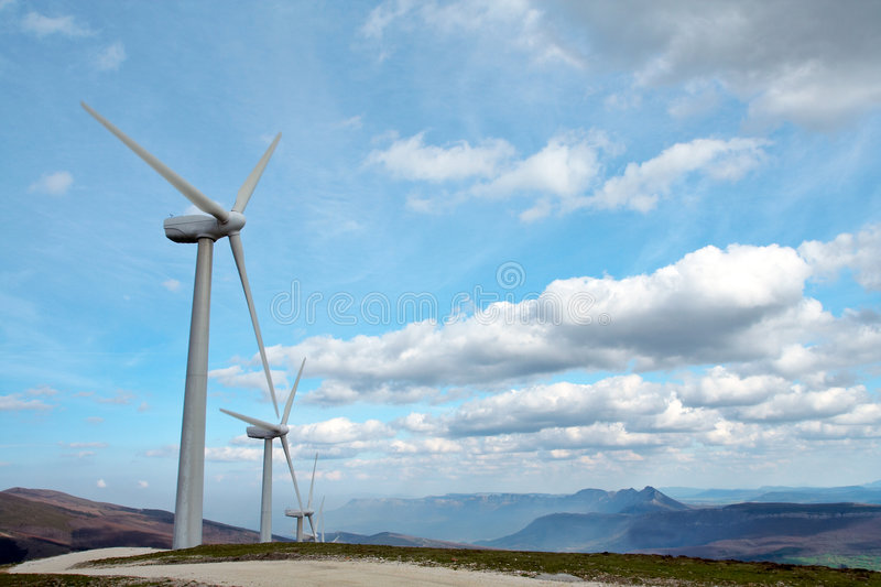 Download Wind turbines stock photo. Image of clouds, renewable, cloud - 662050