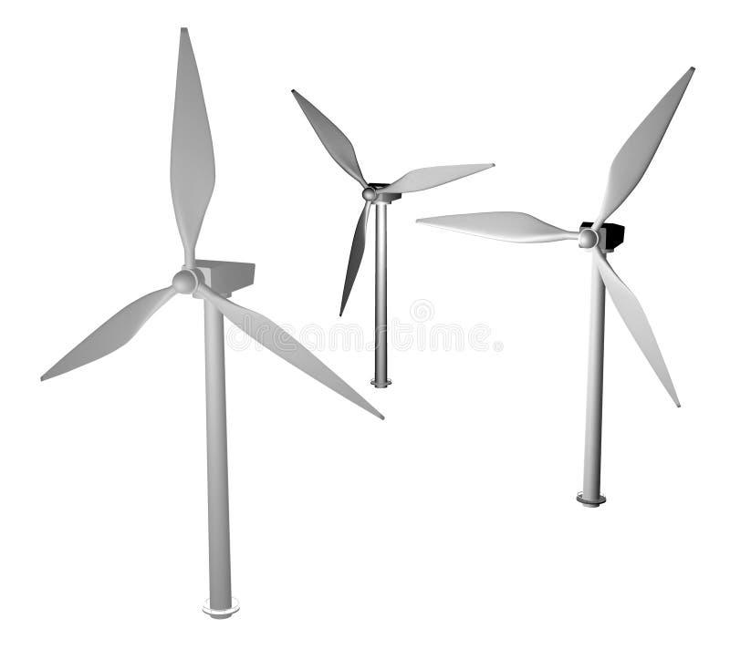 Wind turbines stock illustration