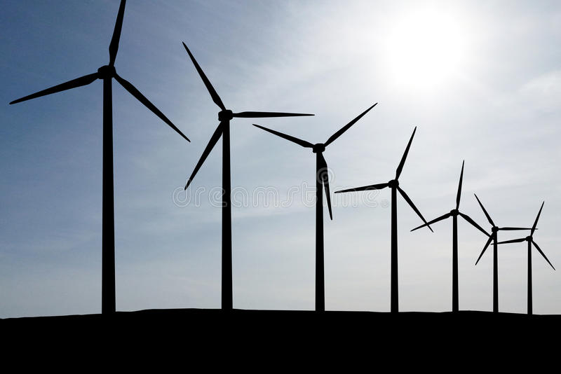 Download Wind Turbines Farm stock image. Image of propeller, global - 31546427