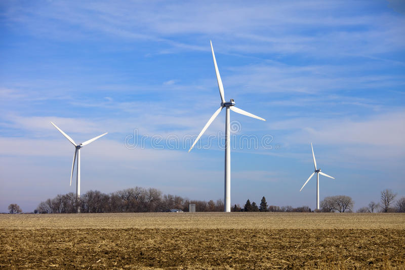 Download Wind turbines in field stock image. Image of industrial - 12121159