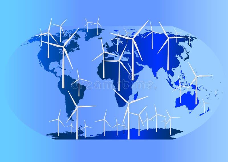 Wind Turbines Globally stock image