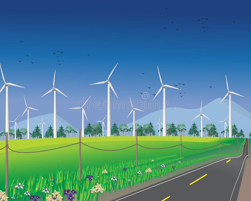 Download Wind Turbines For Green Environment Royalty Free Stock Image - Image: 8293686