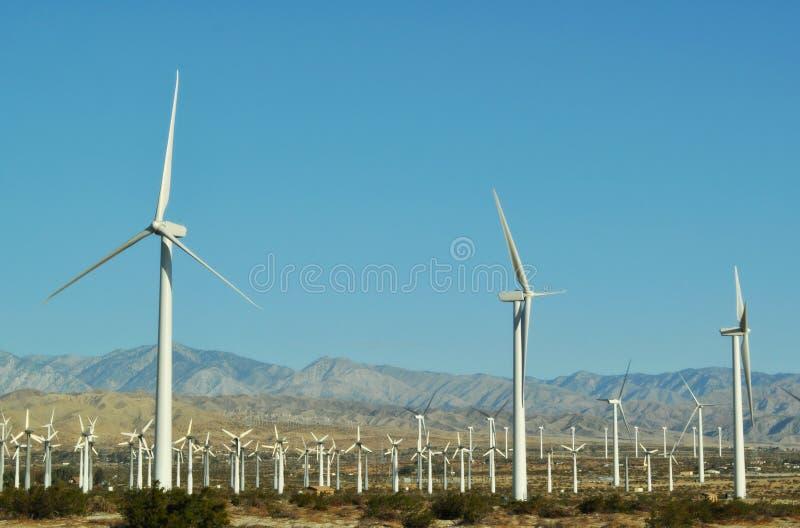 Wind Turbines, Palm Springs, Palm Desert stock image